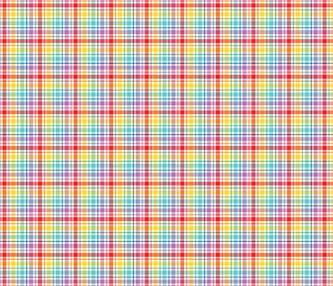 happy plaid no.3 fabric by misstiina on Spoonflower - custom fabric
