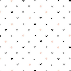 POLKA DOT HEARTS PATTERN
