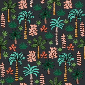 palm tree // palms tropical palms print andrea lauren fabric plant fabric