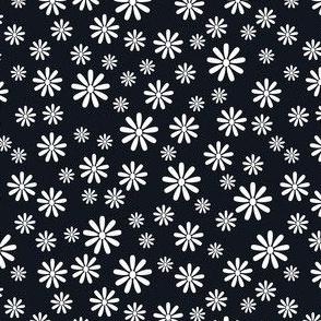 Ditsy Daisy (Black on White)