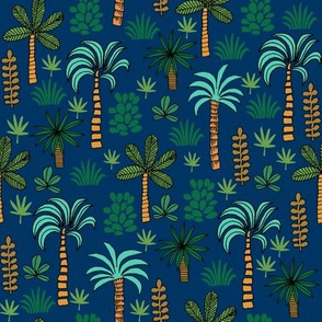 palm tree // palms tree palm fabric palms tropical design tropical plants andrea lauren fabric plants fabric