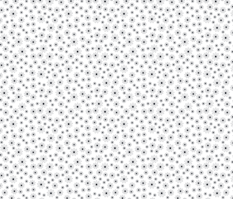 Ditsy Daisy (White and Black) fabric by sarahcatherinedesignsinc on Spoonflower - custom fabric