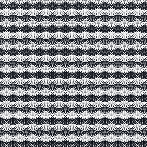 Lace Layers (Black and White) fabric by sarahcatherinedesignsinc on Spoonflower - custom fabric