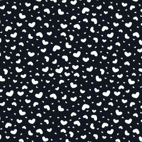 Heart Toss (White on Black)