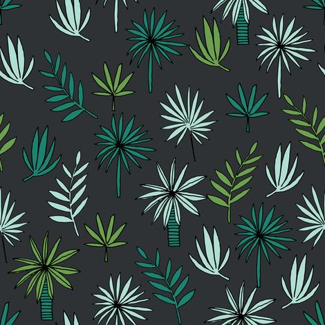 palm tree // palms palm tree print tropical fabric tropical print palms palm frond design andrea lauren andrea lauren fabric fabric by andrea_lauren on Spoonflower - custom fabric