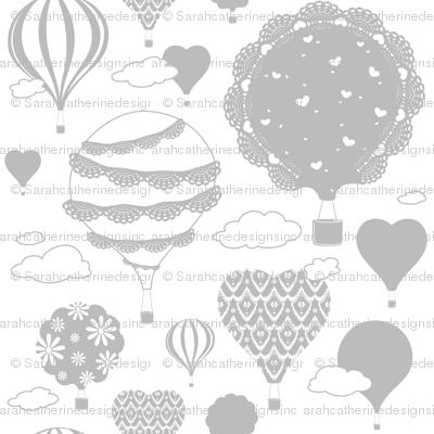 Doily Balloons (Gray and White)