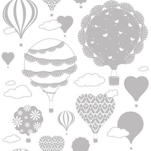 Doily Balloons (Gray and White)