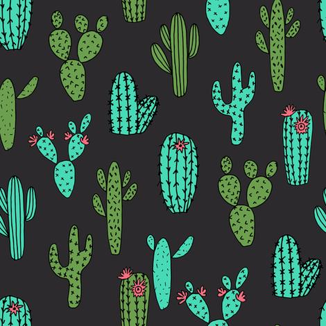 cactus // cacti plants cactus desert cactus fabric andrea lauren fabric andrea lauren design fabrics andrea lauren fabric fabric by andrea_lauren on Spoonflower - custom fabric