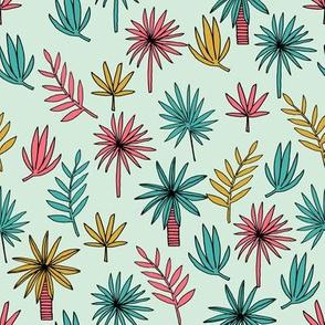 palm tree // palms palm tree fabric palms fabric plants fabric palm fronds fabric andrea lauren design andrea lauren fabric