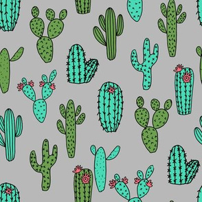 cactus // cactus fabric cacti grey and green fabrics cacti flowers cactus designs fabric flowers fabric design andrea lauren fabric