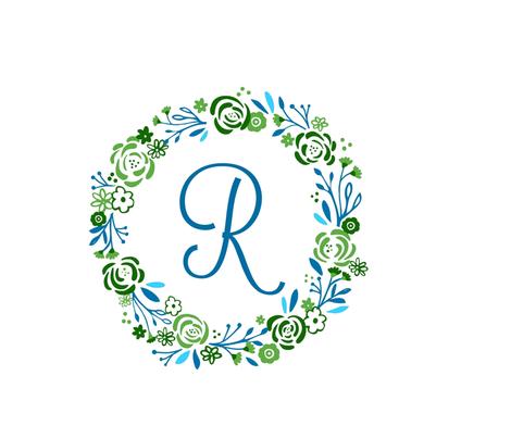Lagoon  XL 12 R -  shabby chic rose wreath fabric by drapestudio on Spoonflower - custom fabric