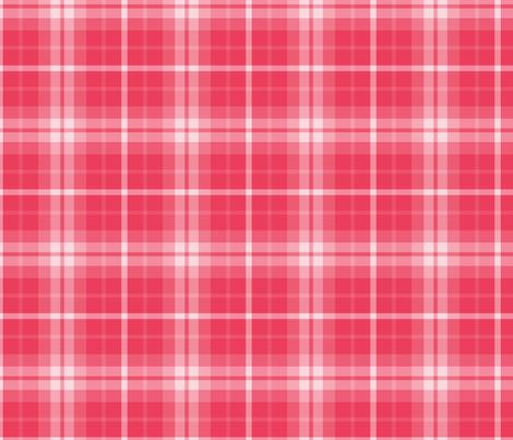 plaid red 1 LG fabric by misstiina on Spoonflower - custom fabric
