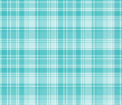plaid teal 2 LG fabric by misstiina on Spoonflower - custom fabric