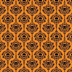 Halloween Damask Orange
