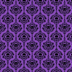 Halloween Damask Purple