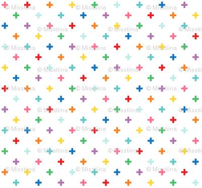 tiny rainbow crosses