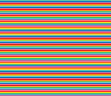 tiny rainbow stripes 2 fabric by misstiina on Spoonflower - custom fabric