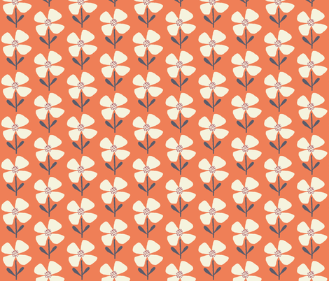 meadow beauty paprika fabric by shindigdesignstudio on Spoonflower - custom fabric