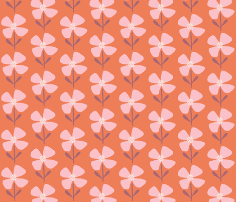 meadow beauty pretty in pink fabric by shindigdesignstudio on Spoonflower - custom fabric