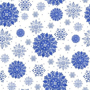 Snowflakes in watercolor
