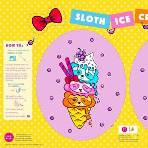 Sloth Ice Cream Pillow – Egg Shape