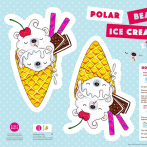 Polar Bear Ice Cream Pillow