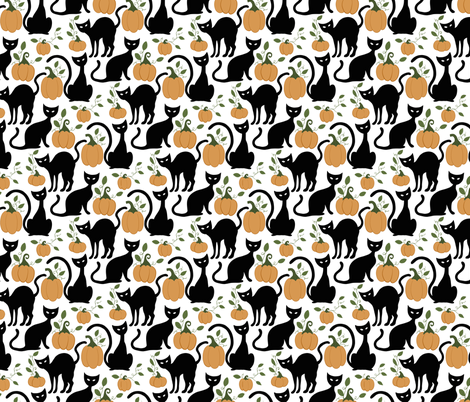 Halloween Cats fabric by bluebirdcoop on Spoonflower - custom fabric