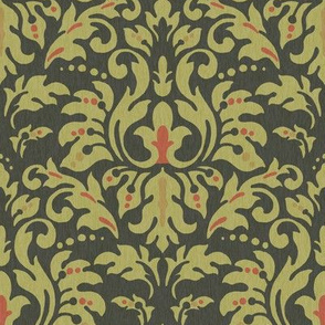 Charcoal___Ochre_Damask