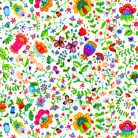 Garden Flowers fabric by beebumble on Spoonflower - custom fabric