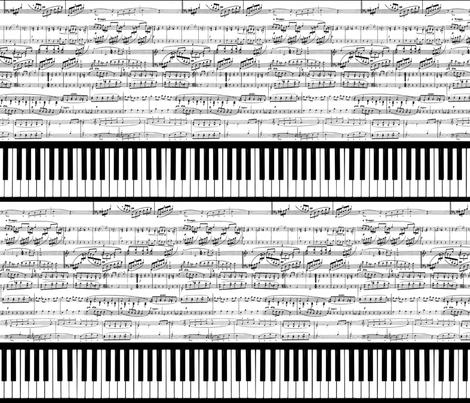 Piano Music (railroaded version) fabric by braided_arrow_art on Spoonflower - custom fabric