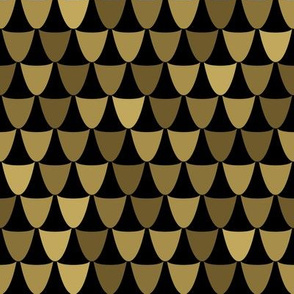 gold art deco geometric scales