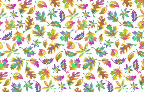 Levitating_Leaves fabric by margodepaulis on Spoonflower - custom fabric