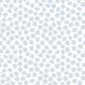 Gerberas in Light Old Blue - Macro Florals in Old Blue