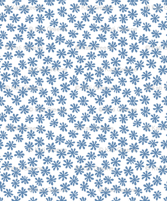 Gerberas in Old Blue - Macro Florals in Old Blue