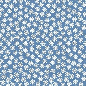 Gerberas in Old Blue - Macro Florals in White