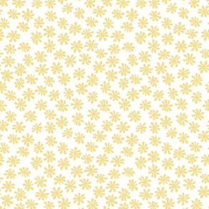 Gerberas in Old Yellow - Macro Florals in Light Yellow