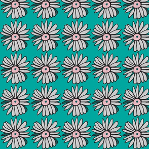 small turquoise daisies