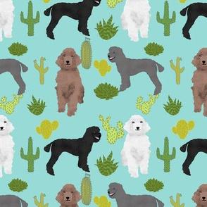 poodle cactus fabric cute cactus design poodle fabric standard poodle fabric