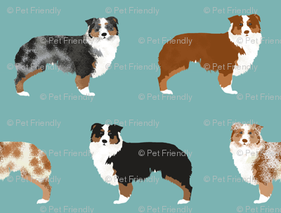 australian shepherds dogs cute blue merle dog red merle aussie dog fabrics cute fabric design