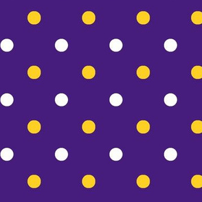 Purple and yellow team color Polka dot purple