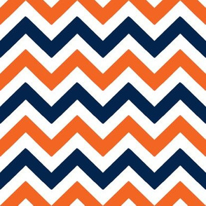 Navy and orange team color _Chevron