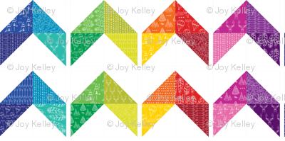 Rainbow quilt  //  woodland adventure