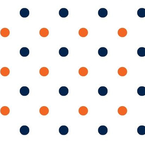Navy and orange team color _White_Dot