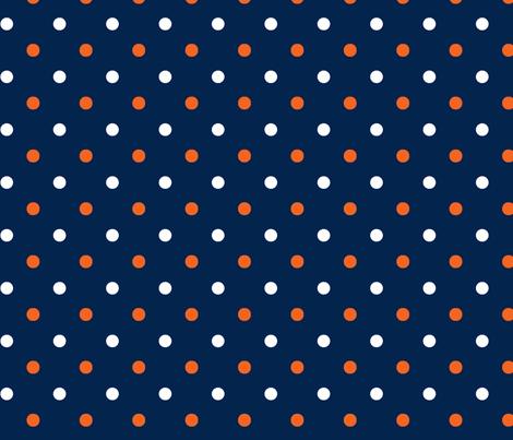 Auburn_Navy_Dot fabric by rickrackscissorsstudio on Spoonflower - custom fabric