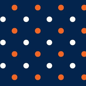 Navy and orange team color _Navy_Dot