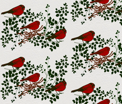Cardinal Way fabric by lacartera on Spoonflower - custom fabric