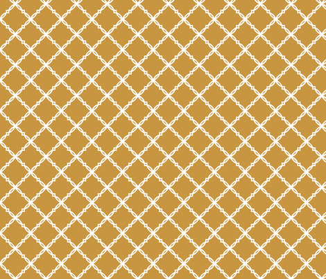 Notre_Dame_Gold_Trellis fabric by rick_rack_scissors_studio on Spoonflower - custom fabric