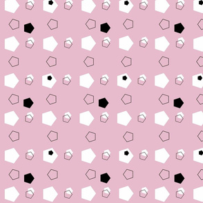 Pink Pentagons on Point