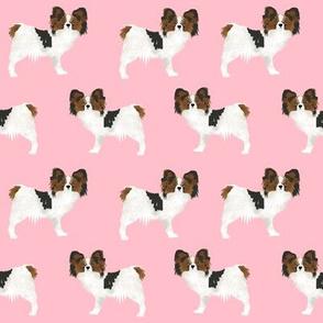 papillon pink fabric cute pet dogs best papillon dogs fabric cute papillon design