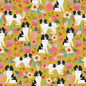 japanese chin dog florals cute floral design best japanese spaniel dog gifts cute dog design sweet dogs best dog fabrics